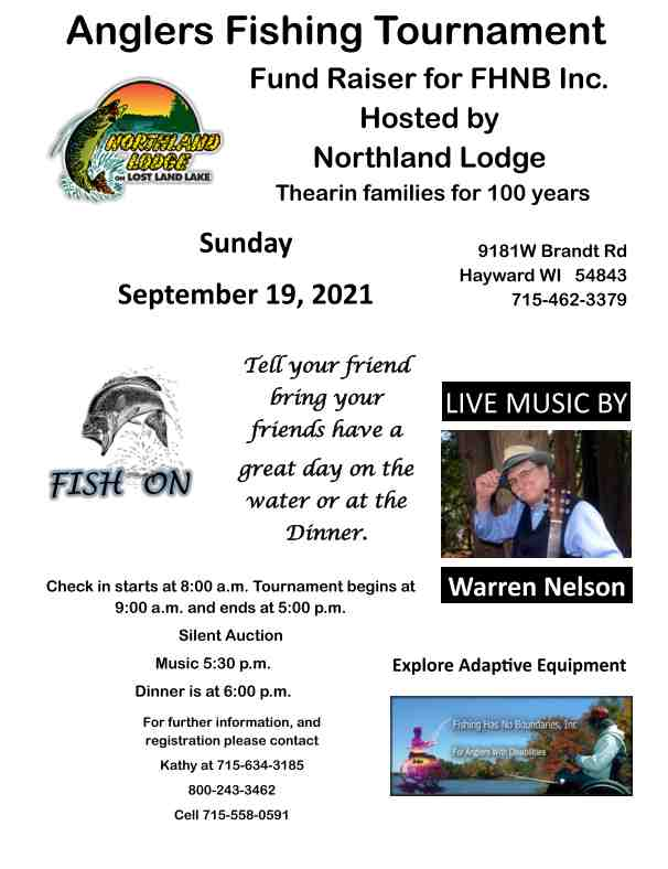 Anglers Fishing Tournament Fund Raiser for FHNB Inc.
